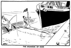 Egypt and Russian align with each other in 1955 In 1956 Egypt starts to acquire weapons form Czechoslovakia Israel faces threats from Gamal Nasser In response the USA backs out of the Aswan Dam. Political Art, Soviet Union, Egypt, Cartoon, Middle East, Pictures, School, Google, Modern