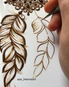 Pin by Crush with henna on Mehndi in motion ( videos) Basic Mehndi Designs, Rose Mehndi Designs, Finger Henna Designs, Henna Art Designs, Mehndi Designs 2018, Mehndi Designs For Girls, Mehndi Designs For Beginners, Dulhan Mehndi Designs, Mehndi Design Pictures