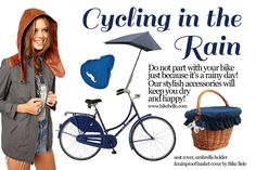 #cycling in the #rain, styleboard by bikebelle.com