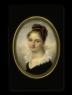 French    Young Lady in Dark Blue Dress    circa 1815