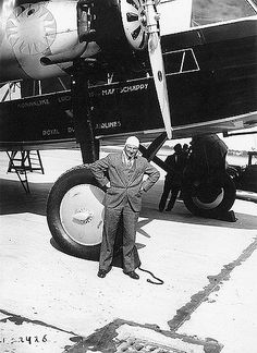 "https://flic.kr/p/KDYyu | FOKKER, ANTHONY H. G. |  SI Neg. 2002-14083. Date: na...Anthony H.G. ""Tony"" Fokker standing in front of a Fokker aircraft wearing a suit and leather flying helmet...Credit: unknown (Smithsonian Institution)"