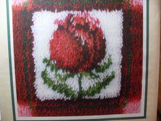 Caron Little Rose latch hook kit, Little Rose 12 by 12 rug kit, Needlecraft unopened kit, craft supplies, Latch hook supplies, Ginge by GingersLittleGems on Etsy