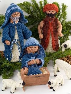 The cutest crib free crochet there! 9 are crocheted dolls made of wool amigurumi technique with 100% acrylic, plumante fiber ...