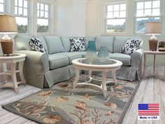 Slipcovered sectional | Barbos Furniture