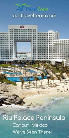The Hotel Riu Palace Peninsula (All Inclusive 24h) it is located at the heart of one of the most touristic destinations in Mexico, Cancun, the property is situated on a dazzling stretch of white sand beach and framed by tropical vegetation and crystal clear turquoise water.