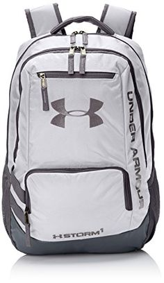 Under Armour Hustle II Backpack, White, One Size Under Armour