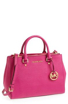 MICHAEL Michael Kors 'Dressy - Medium' Saffiano Leather Tote | Nordstrom On the Birthday Wishlist! SO OBSESSED!!!