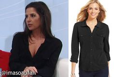 I'm a Soap Fan: Sam Morgan's Black Button Down Shirt - General Hospital, Season 52, Episode 231, 03/03/15 #GH #GeneralHospital