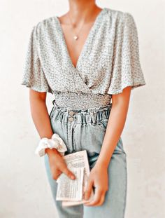 Cute Casual Outfits, Pretty Outfits, Edgy Outfits, Look Fashion, Fashion Outfits, Modest Fashion, Girlie Style, Paris Mode, Bohemian Tops