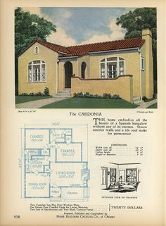 1000 images about vintage spanish bungalow on pinterest for Spanish bungalow house plans