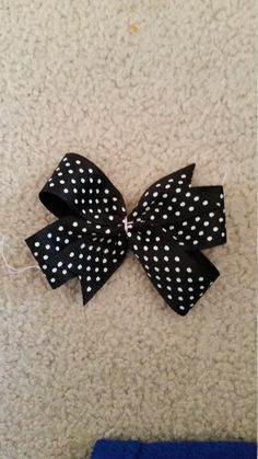 Check out this item in my Etsy shop https://www.etsy.com/listing/264168762/black-bow-with-white-polka-dots