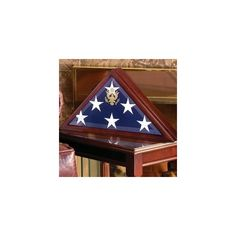 Coffin Flag cases- Coffin flag Box via Polyvore featuring home, home decor, burial flag frames, coin holders, flag and medal displays, flag boxes and flag display cases
