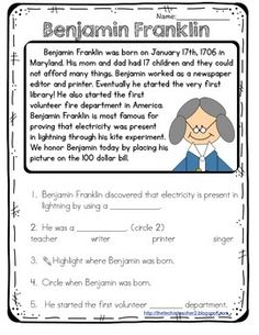I need a 5 paragraph essay written in 1st person about Benjamin Franklin?