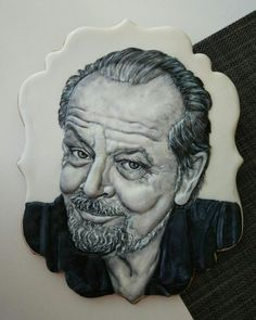 Jack Nicholson - cookie by Eleonora Pchemyan (Art Biscotti) Royal Icing Cookies, Cupcake Cookies, Sugar Cookies, Cupcakes, Jack Nicholson, Sugar Art, Amazing Cakes, Cookie Decorating, Crafts For Kids