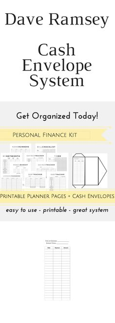 Printable Cash Budget Kit - financial planner, budget templates - dave ramsey budget spreadsheet template
