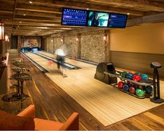 Home Bowling Alley  ~ How fun?!?  I love this!!!!