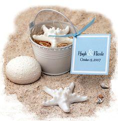 Unique Starfish & Urchin Soap Favor. Mini Pail, personalized gift, wedding favor, beach, summer $4.19