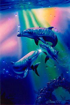 Dolphins - die Animation am Telefon №1270689