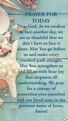 Good Night Prayer Quotes, Good Morning Prayer, Morning Blessings, Morning Prayers, Prayer Scriptures, Bible Prayers, Faith Prayer, Bible Verses, Good Prayers