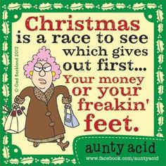 Aunty Acid at Christmas