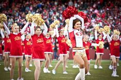 The San Francisco 49ers are cheered on by the Gold Rush ladies -- we outfitted the Junior Gold Rush girls as well! To get their look, go to