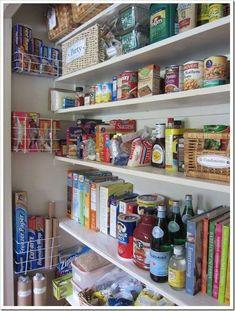 Pantry Closet Organization, Kitchen Pantry Storage, Pantry Shelving, Kitchen Pantry Design, Diy Kitchen, Organized Pantry, Organizing A Pantry, Kitchen Ideas, Small Pantry