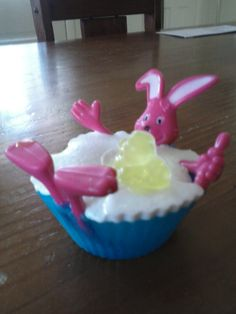 Bunny in a bath tub, melt and pour soap