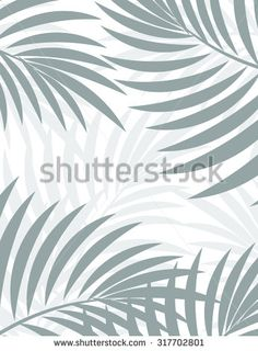Exotic background with palm leaves for design in hipster style. The leaves in the background. Leaves of palm tree. Silhouette of palm leaves. Hipster background. Background for advertising