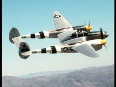 """The Lockheed P-38 Lightning was a World War II American fighter aircraft built by Lockheed. Named """"fork-tailed devil"""" by the Luftwaffe and """"two planes, one pilot"""" by the Japanese, the P-38 was used in a number of roles, including dive bombing, level bombing, ground-attack, photo reconnaissance missions, and extensively as a long-range escort fighter when equipped with drop tanks under its wings."""