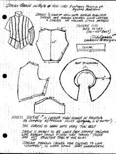 italian jerkin pattern - 832x1106px