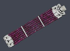 RUBY braccialetto di diamanti, Van Cleef & amp;  ARPELS a 1934th