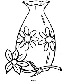 Flower Page Printable Coloring Sheets Pot Riverbank Vase Of Flowers