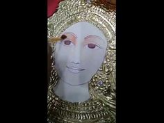 Tanjore Durga face painting - YouTube