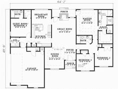 Country Style House Plans - 1800 Square Foot Home , 1 Story, 3 ...