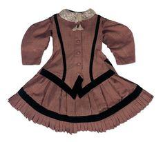 Princess Dress with Black Velvet Trim