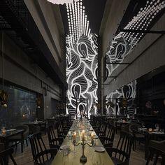 cascadas INDJ atelier pared de luz controlada por el kinect xbox en shanghai