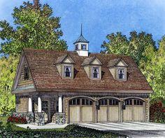 Amicalola Cottage House Plan 12068, 3 Car Garage | Exteriors ...
