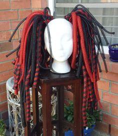 Cybergoth Cyberlox Hair Falls Cyber Goth Cyber Falls by CyberFreak, $60.00 #cyberlox #cybergoth #cyberhair