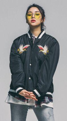스카쟌의 자수를 스타디움 자켓에 그대로 구현한 세인트페인의 스타디움 자켓 168cm / 48kg / M size