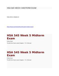 hsa 525 homework week 5