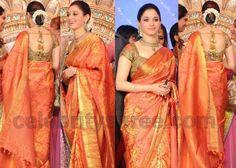 Tamanna Bridal Saree at Upasana Weddig | Saree Blouse Patterns