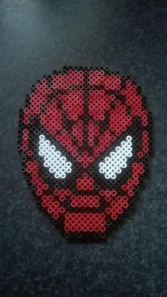 Spiderman perler beads by Perlerwonders
