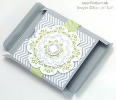 Stampin' Up! UK Demonstrator Pootles - Slimline Fold Flat Box Tutorial Folded Out (with video tutorial)