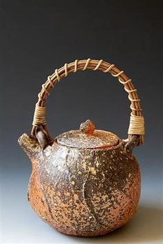 Akira Satake | Teapot | Wood fired, natural ash glaze, item 1513