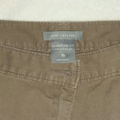 ***FINAL***  Nice Pair Of Capri Pants There a light brown very well made pair of Capri Pants like new Ann Taylor Pants Capris