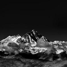 Get HD Wallpaper: http://bit.ly/2t2LA7B mr57-snow-solo-mountain-high-nature-dark-bw via http://iPapers.co - Wallpapers for all Apple