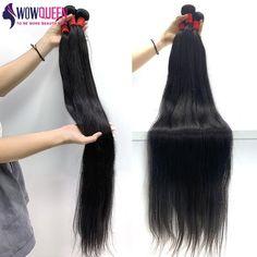 Bundles 30 32 34 36 40 Straight Human Hair Brazilian Reny Weave Extensions - 40 Inch