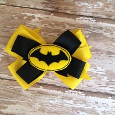 Batman Inspired Bow