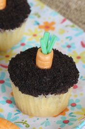 candy carrots and carrot patch cupcakes