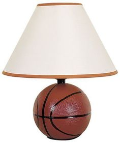 Ceramic Basketball Table Lamp Sports Design ORE International 604BA UL listed. #OREInternational